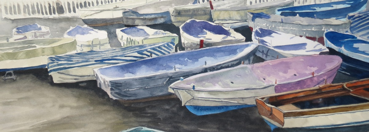 Sorrento Boats watercolour andrew henderson