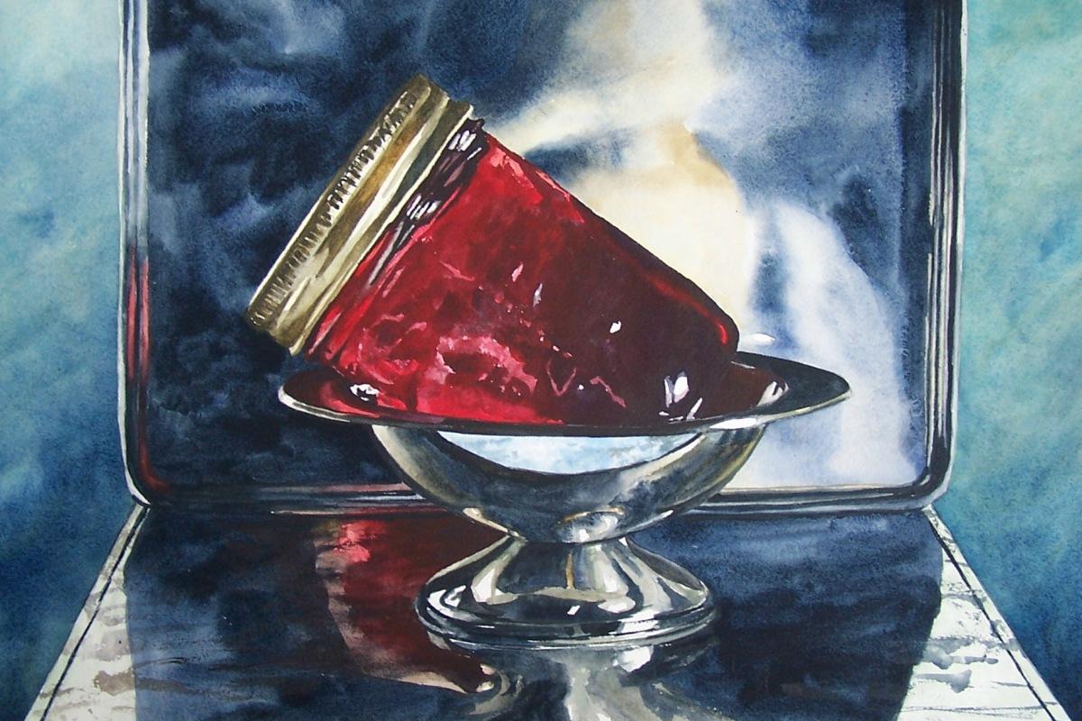 crimson jelly watercolour andrew henderson