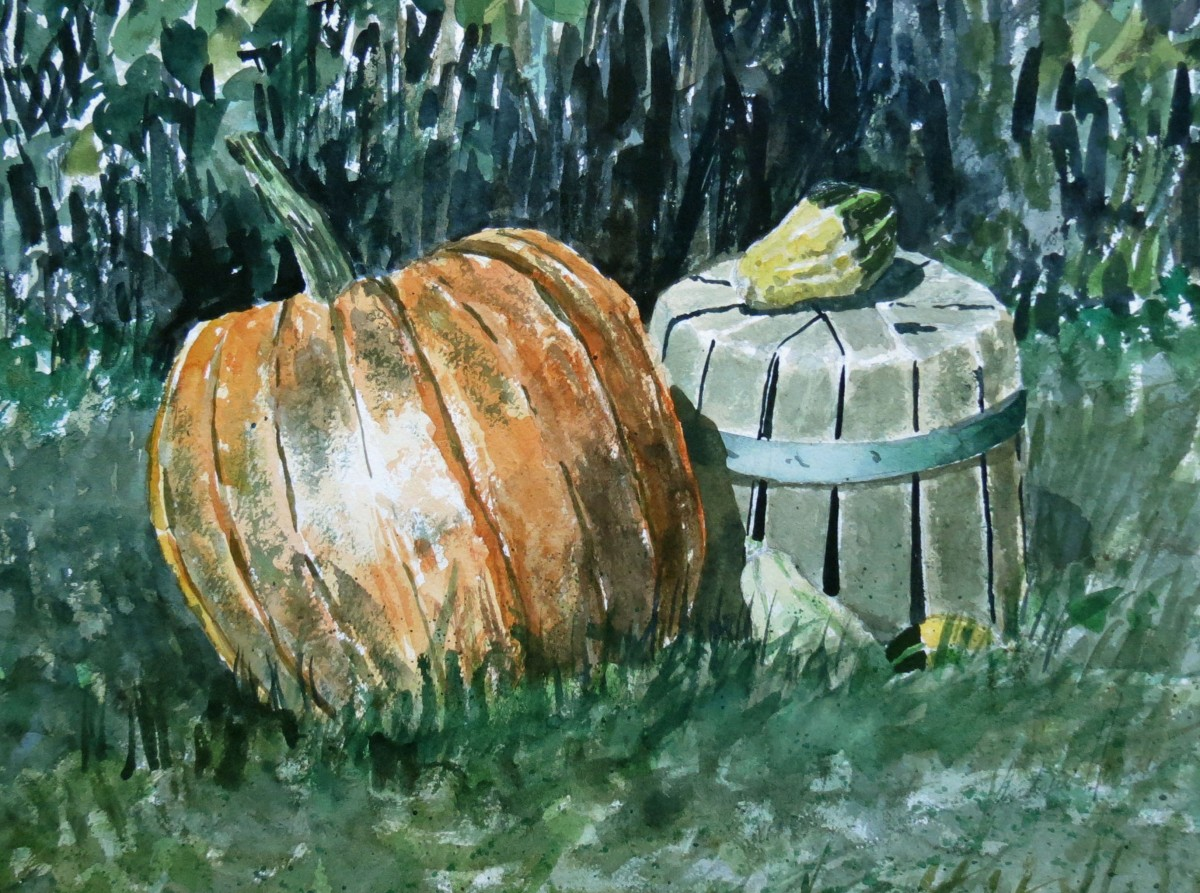 Pumpkin watercolour Andrew Henderson
