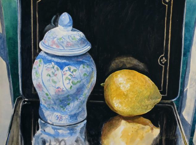 Jar & Lemon watercolour Andrew Henderson