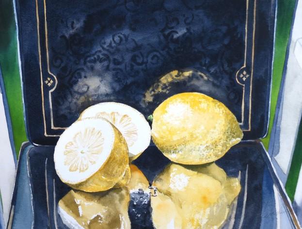 Lemons watercolour Andrew Henderson