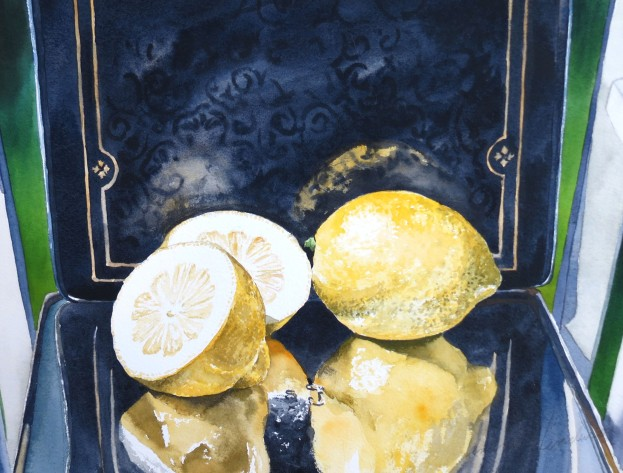 Lemons watercolour Andrew Henderson