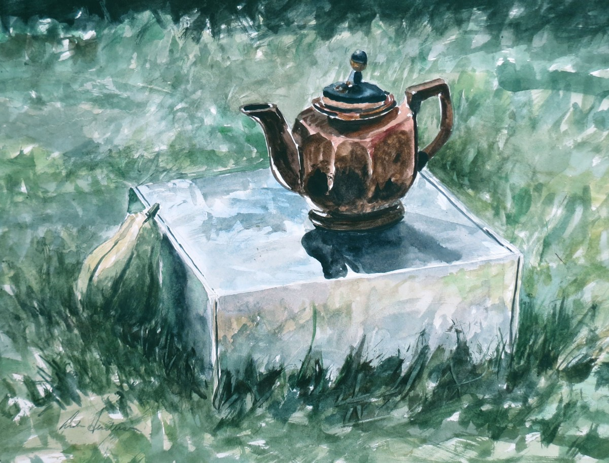 Little Tea Pot watercolour Andrew Henderson