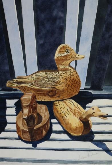 Marshland Trio watercolour Andrew Henderson