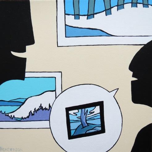 Snow Show acrylic Andrew Henderson