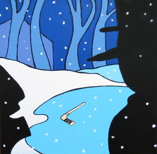 Snow Show II acrylic Andrew Henderson