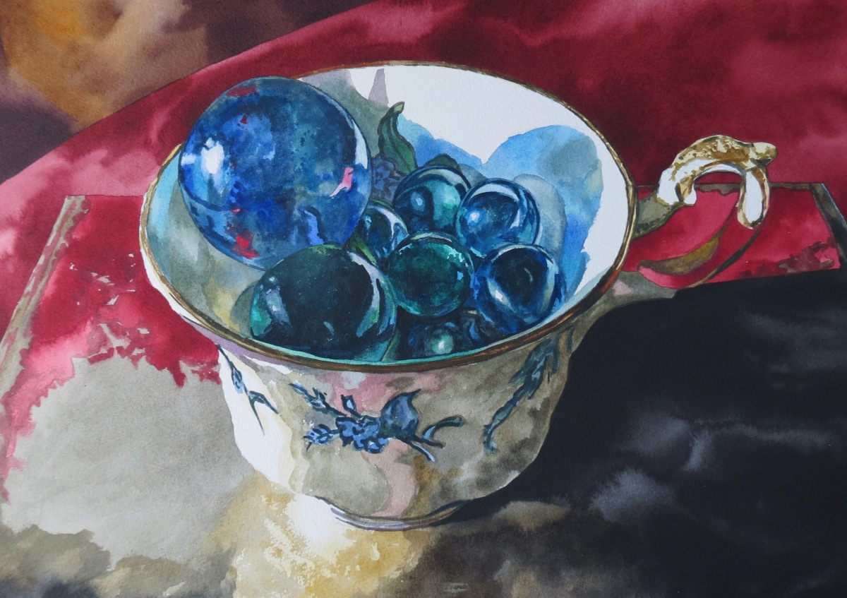 Universe in a Cup watercolour Andrew Henderson
