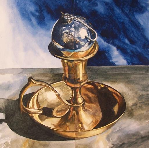 Cobalt Globe watercolour Andrew Henderson