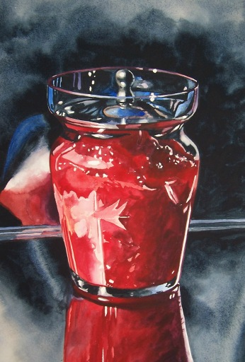 Jam Jar watercolour Andrew Henderson