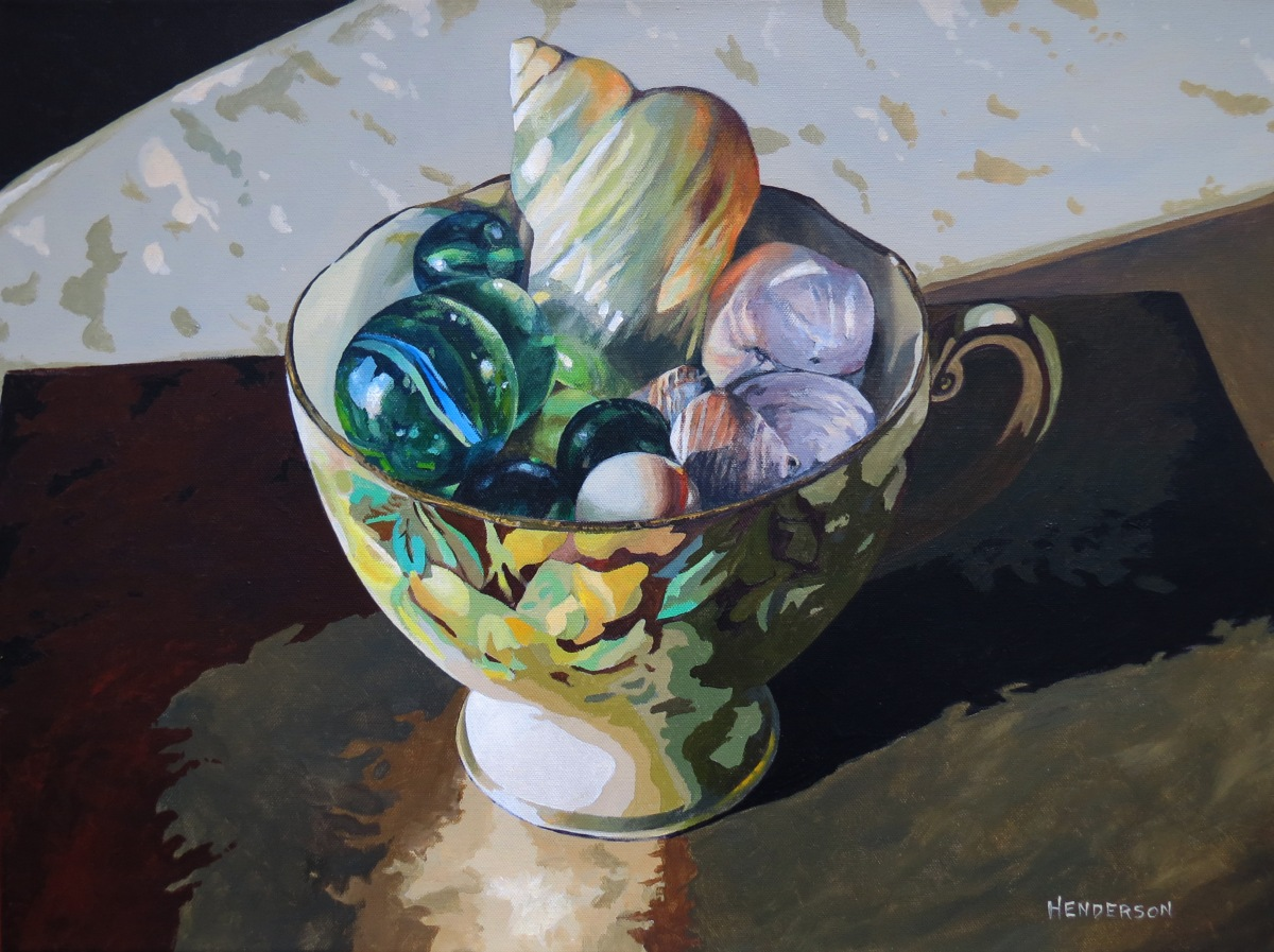 Mary Anning's Tea Cup acrylic Andrew Henderson