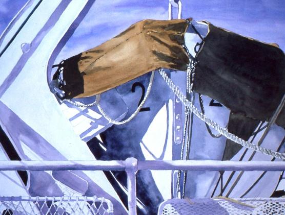 Life Boat #2 watercolour Andrew Henderson