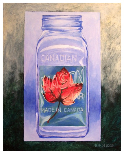 Preserved Leaf acrylic Andrew Henderson