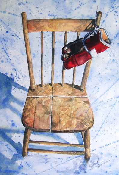 Red Glove watercolour Andrew Henderson