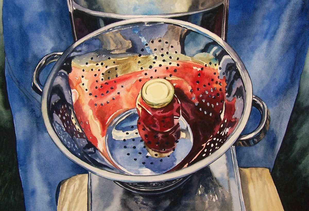 Reflections watercolour Andrew Henderson