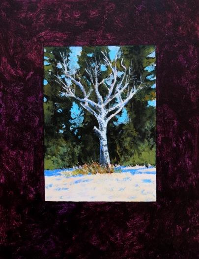 Snow Birch acrylic Andrew Henderson