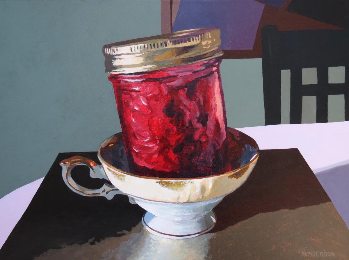 Tea & Jam acrylic Andrew Henderson