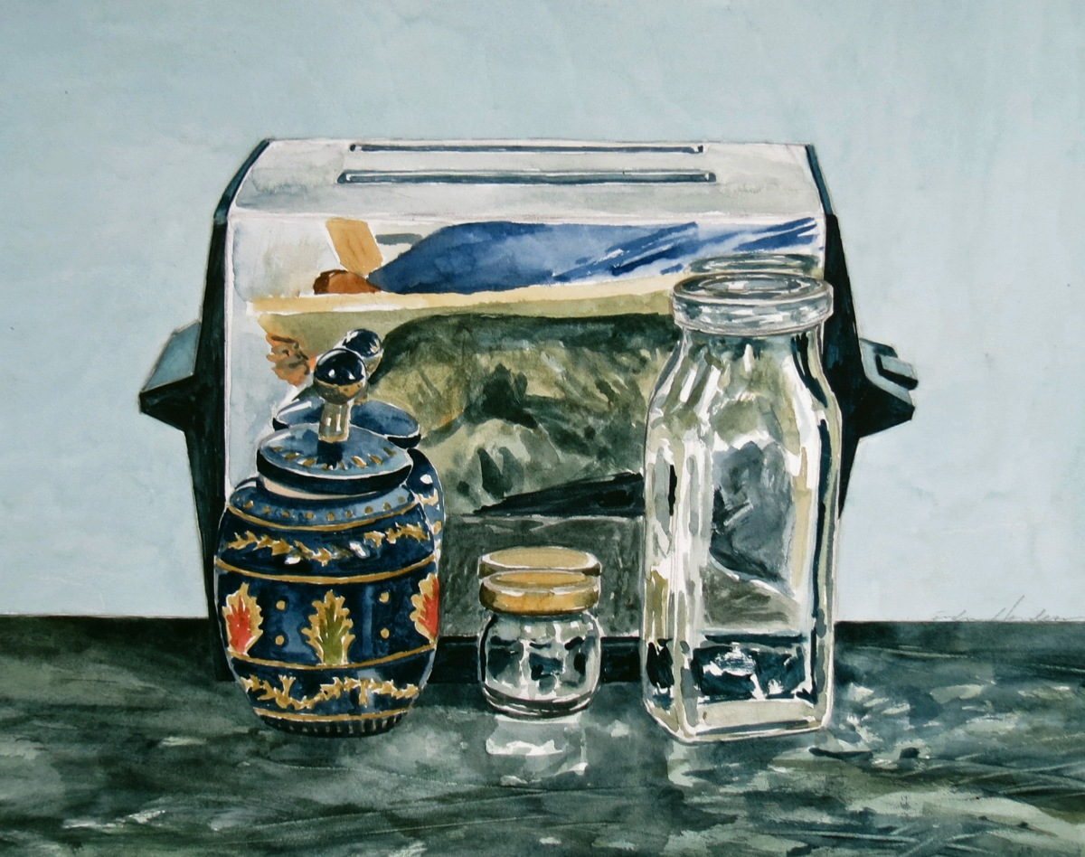 Toaster watercolour Andrew Henderson