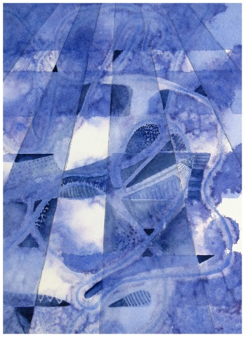 Violet Perspective watercolour Andrew Henderson
