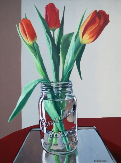 3 Tulips Preserved acrylic Andrew Henderson
