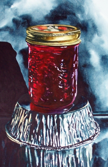 Jam on Foil watercolour Andrew Henderson