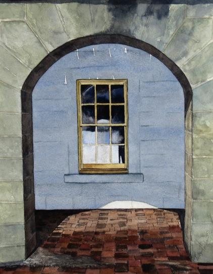Garrison Window watercolour Andrew Henderson