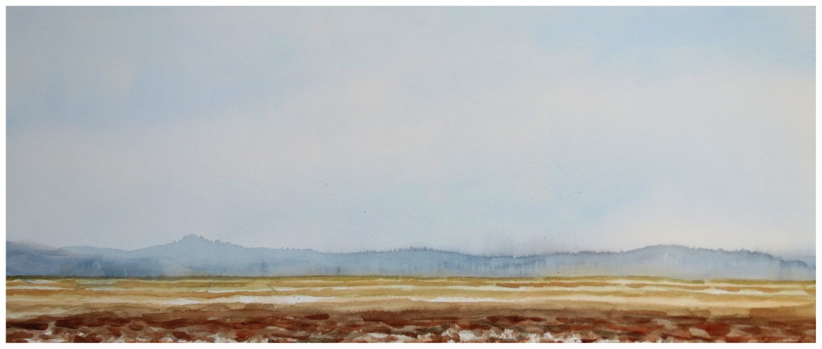Marshlands watercolour Andrew Henderson