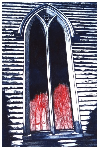 Tongues of Fire etching Andrew Henderson