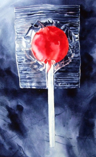 A Red One watercolour Andrew Henderson