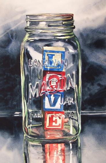 Love in a Jar watercolour Andrew Henderson