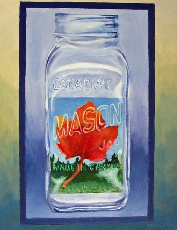 Preserved Maple Leaf acrylic Andrew Henderson