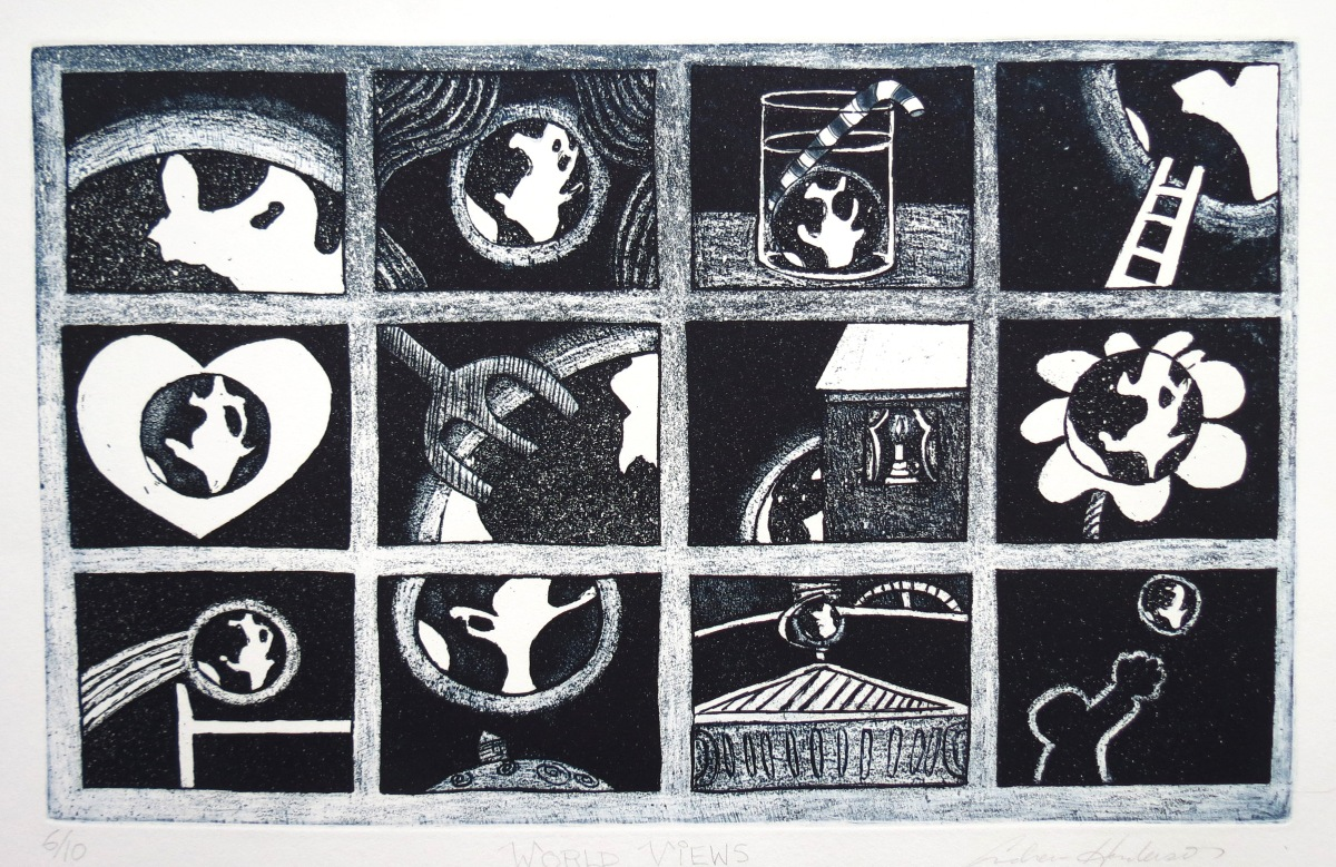 World Views etching Andrew Henderson