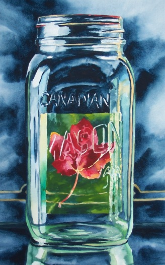 Canadian Rose watercolour Andrew Henderson