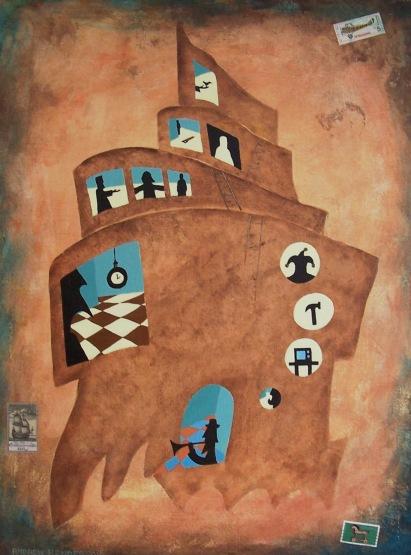 Castle acrylic Andrew Henderson