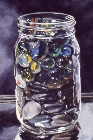 Glass and Stone watercolour Andrew Henderson