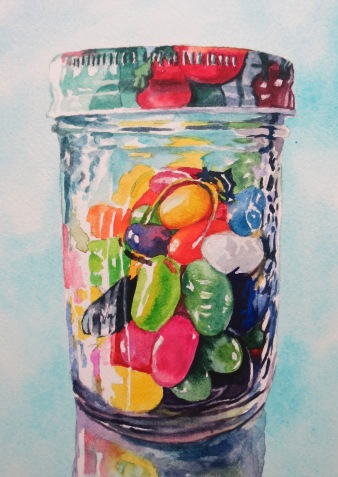 Jelly Bean Dream watercolour Andrew Henderson