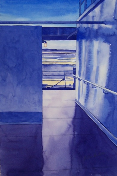 On Deck watercolour Andrew Henderson