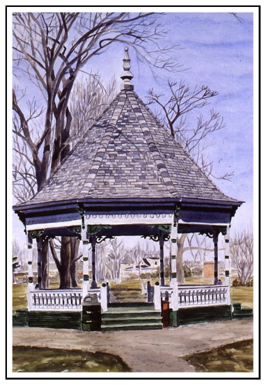 Bandstand watercolor Andrew Henderson