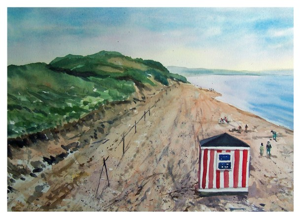 Beach Day watercolour Andrew Henderson