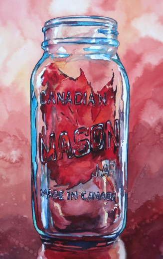 Big Red watercolour Andrew Henderson