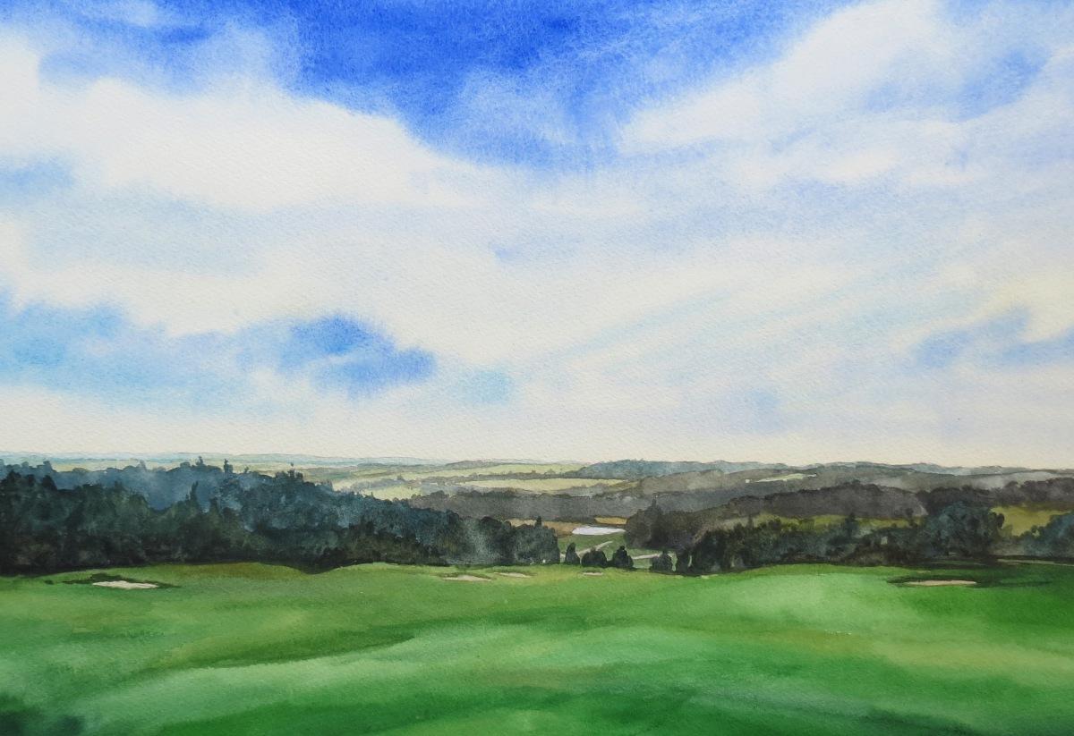 Toward the Shore watercolour Andrew Henderson