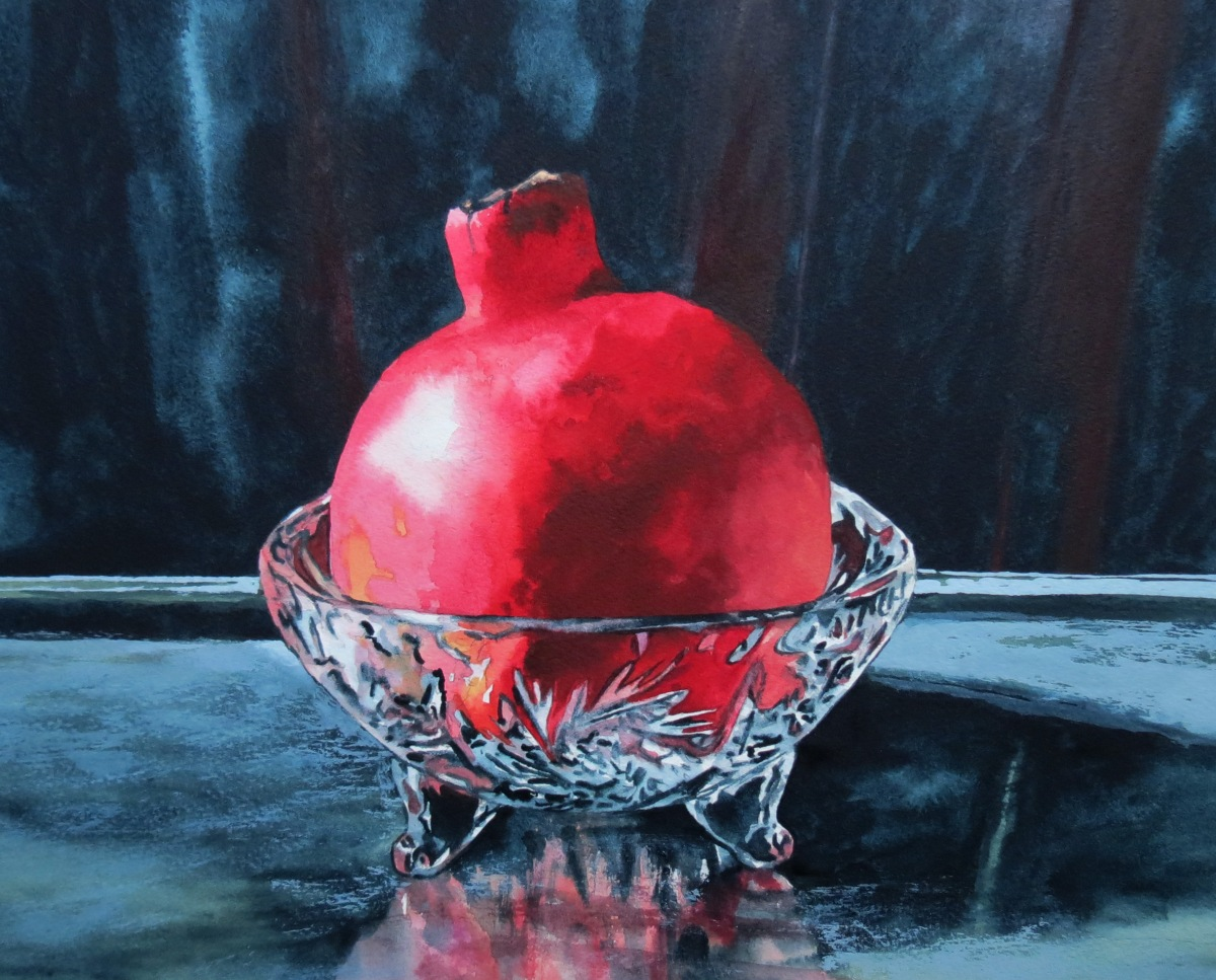 Crystal-Pomegranate watercolour Andrew Henderson
