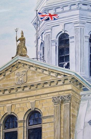 Legislature Roof watercolour Andrew Henderson