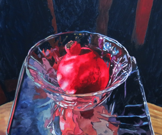 Pomegranate Bowl watercolour Andrew Henderson