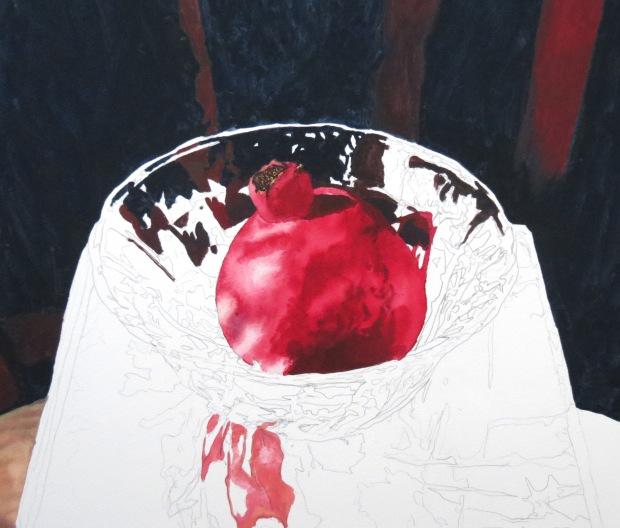 pomegranate bowl wip