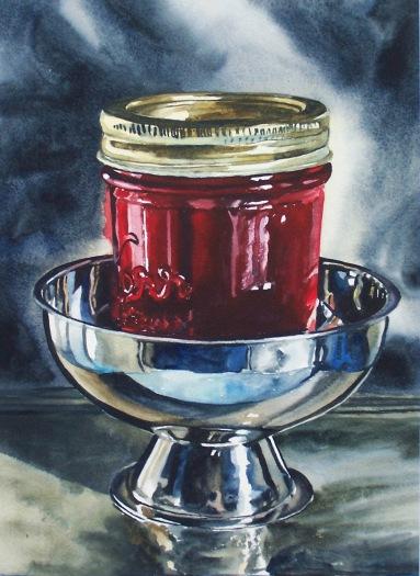 Silver & Scarlet watercolour Andrew Henderson