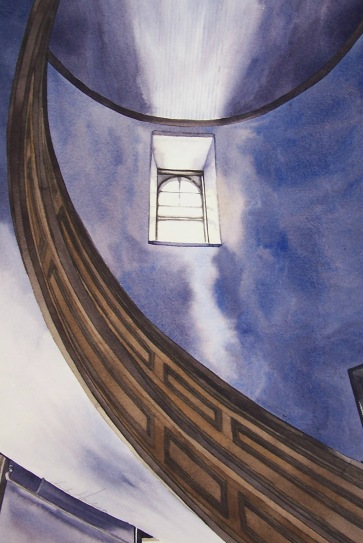Stairway watercolour Andrew Henderson