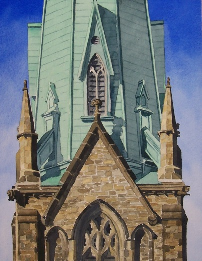 Steeple watercolour Andrew Henderson