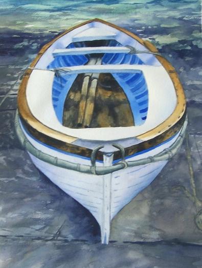 Capri Boat watercolour Andrew Henderson
