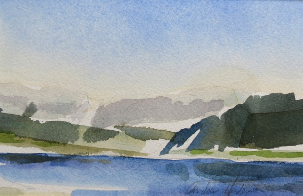 Grand River watercolour Andrew Henderson