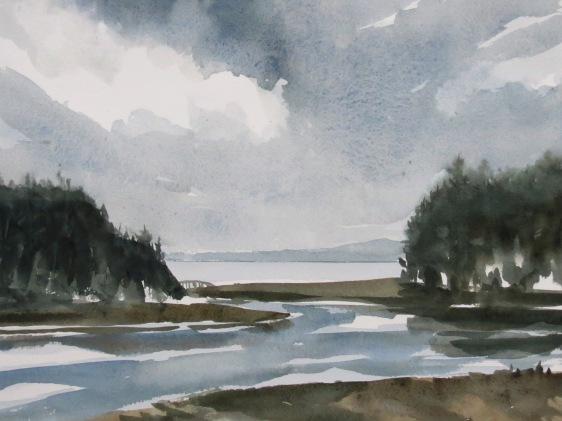 November Sky watercolour Andrew Henderson